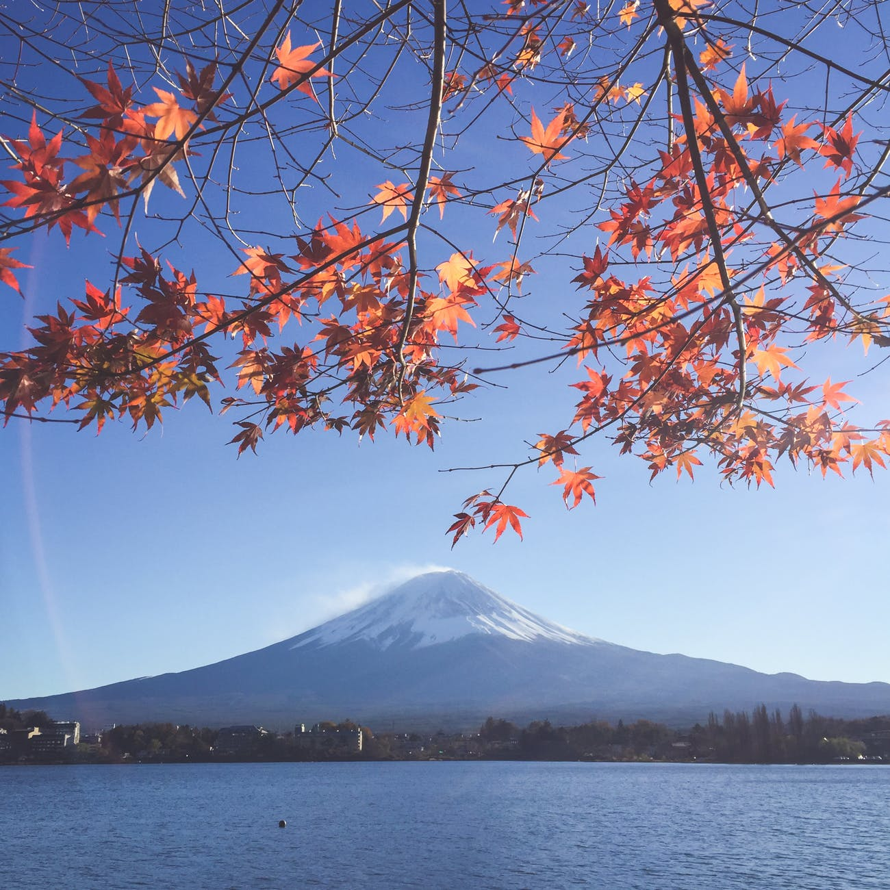 scenic view of mount fuji