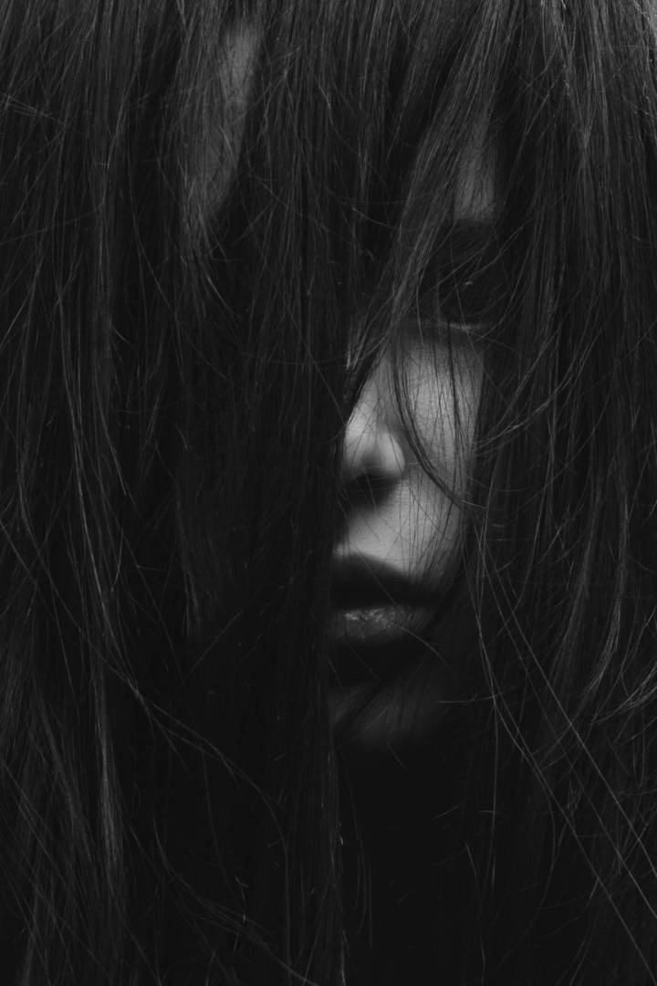 grayscale of woman